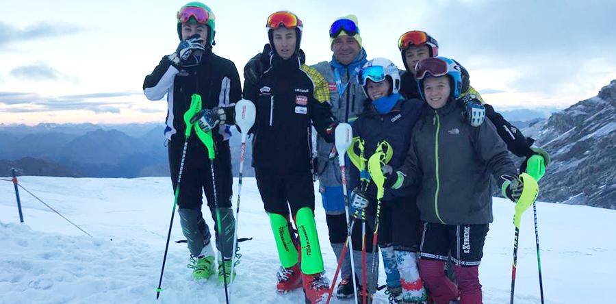 Giovani Falconeri Ski Team breve stage allo Stelvio