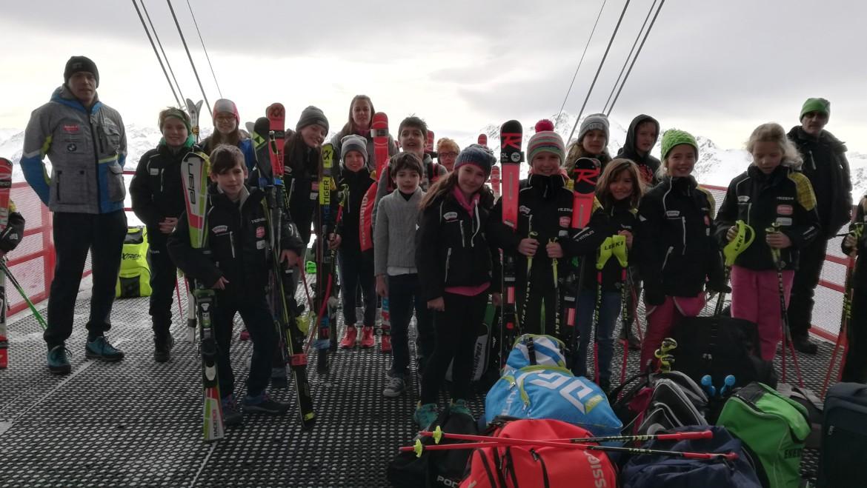 Pulcini in Val Senales con grande impegno