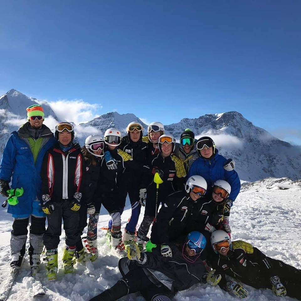 Children Race Falconeri Ski Team stage a Solda