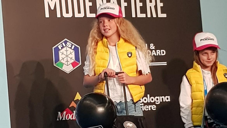 Sofia Guiotto premiata  allo Skipass Modena per la Podhio Race Generation