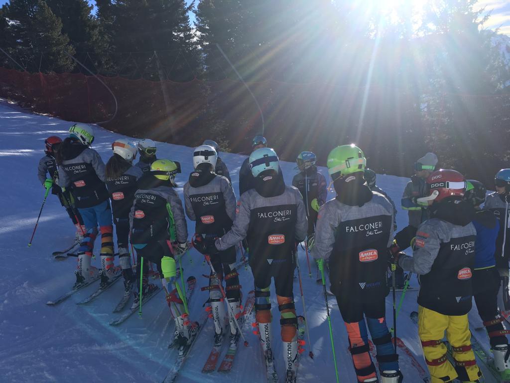Ragazzi Falconeri Ski Team stage al Cermis