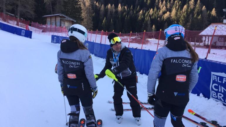 Giovani concentrati per la gara di domani in Val Palot