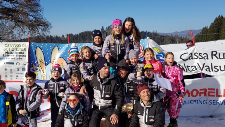 Baby Cuccioli secondi nello Slalom di Lavarone
