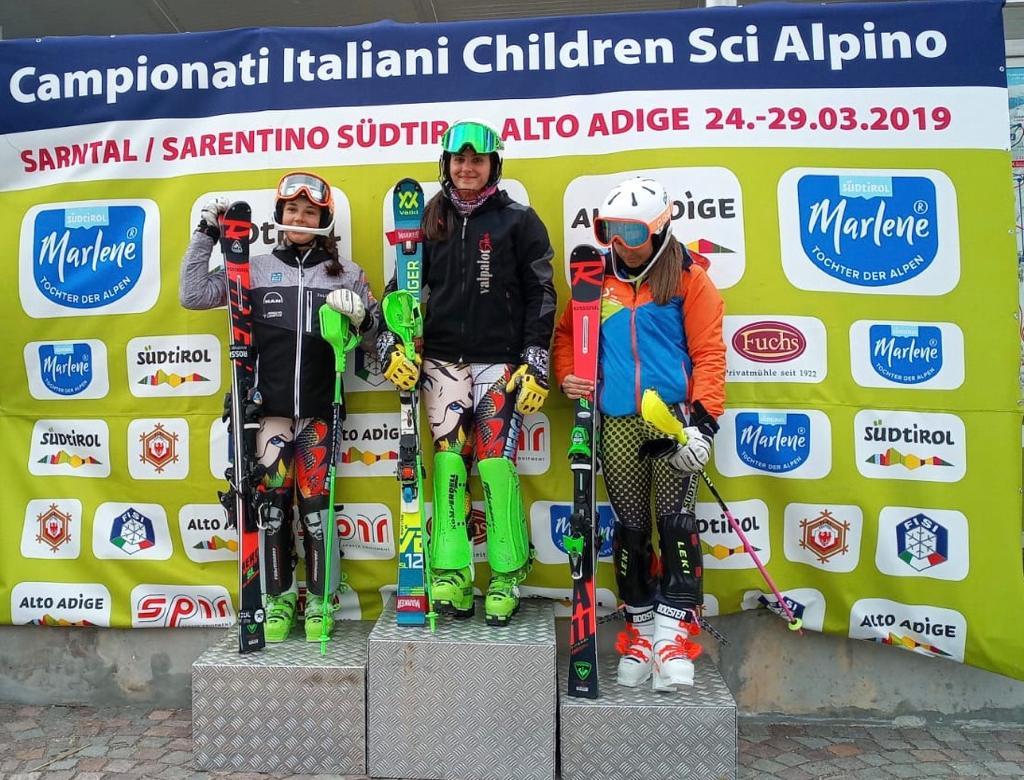 Sola Beatrice seconda nello Slalom di Sarentino ai Campionati Italiani Children