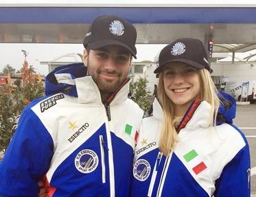 Peterlini e Gasparini con il Centro Sportivo Esercito